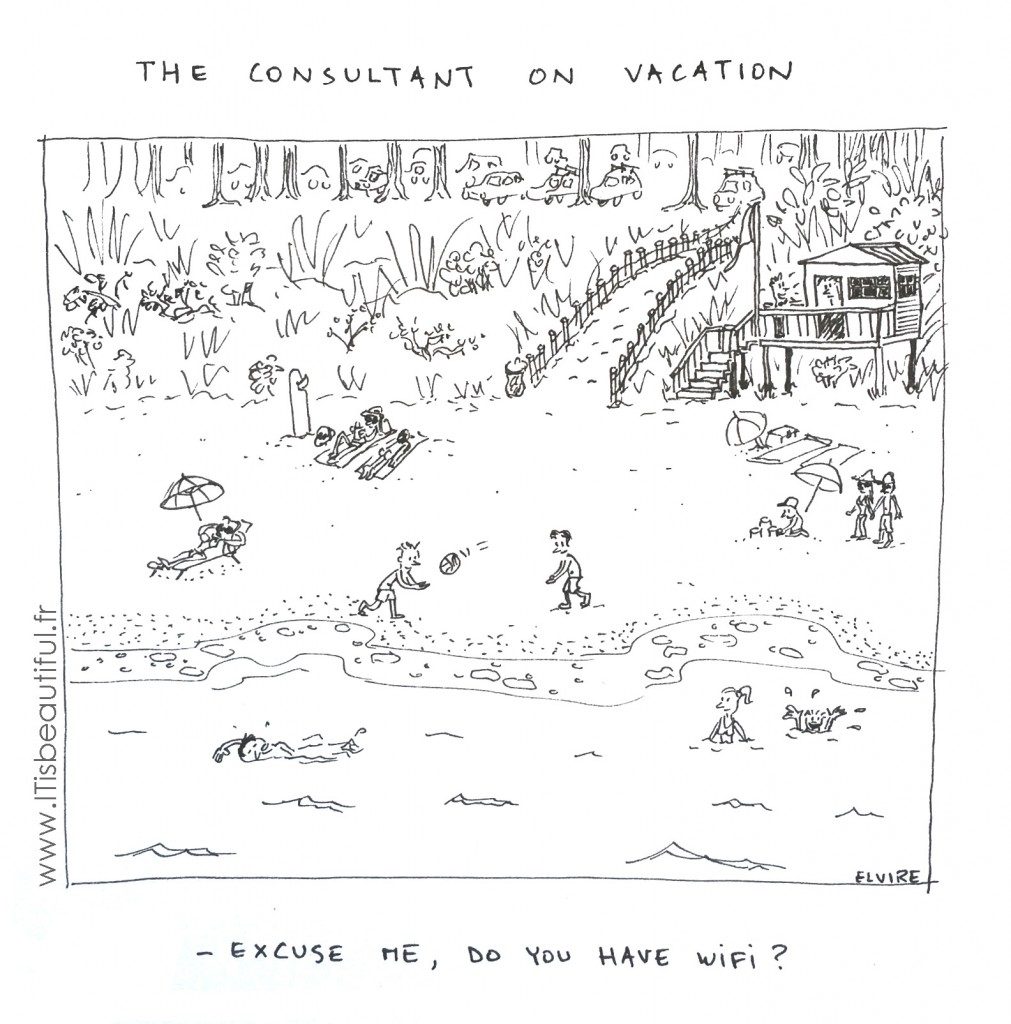 The consultant on vacation